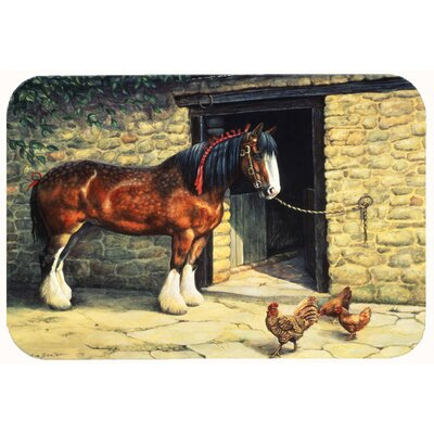 Horse and Chickens by Daphne Baxter Kitchen/Bath Mat Size: 24 W x 36 L