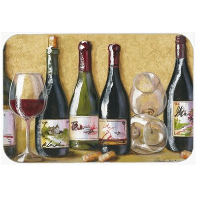 Wine Du Vin by Malenda Trick Kitchen/Bath Mat Size: 24 W x 36 L