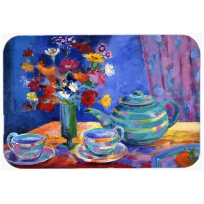 Kempwood Tea by Wendy Hoile Kitchen/Bath Mat Size: 24 W x 36 L
