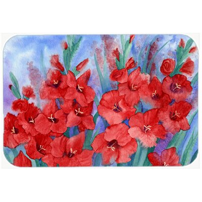 Gladioli Kitchen/Bath Mat Size: 24 W x 36 L