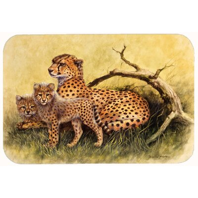 Cheetahs by Daphne Baxter Kitchen/Bath Mat Size: 24 W x 36 L