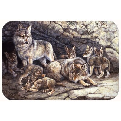 Wolves by the Den Kitchen/Bath Mat Size: 24 W x 36 L