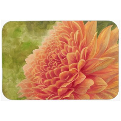 Floral by Malenda Trick Orange Kitchen/Bath Mat Size: 24 W x 36 L