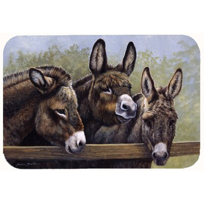 Donkeys by Daphne Baxter Kitchen/Bath Mat Size: 24 W x 36 L