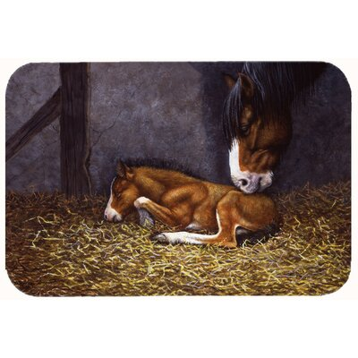 Horse and Her Foal Kitchen/Bath Mat Size: 24 W x 36 L
