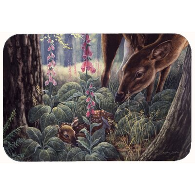 Doe and Fawn Deer Kitchen/Bath Mat Size: 24 W x 36 L