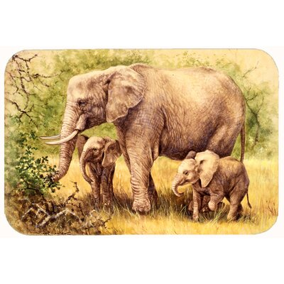 Elephants by Daphne Baxter Kitchen/Bath Mat Size: 24 W x 36 L