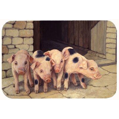 Jonah Pigs Piglets by Daphne Baxter Kitchen/Bath Mat Size: 20 W x 30 L