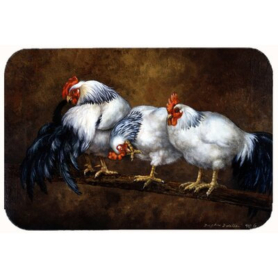 Jaiden Roosting Rooster and Chickens Kitchen/Bath Mat Size: 24 W x 36 L