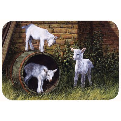 Goats by Daphne Baxter Kitchen/Bath Mat Size: 24 W x 36 L