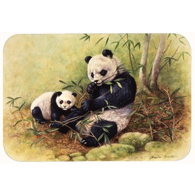 Panda Bears by Daphne Baxter Kitchen/Bath Mat Size: 24 W x 36 L
