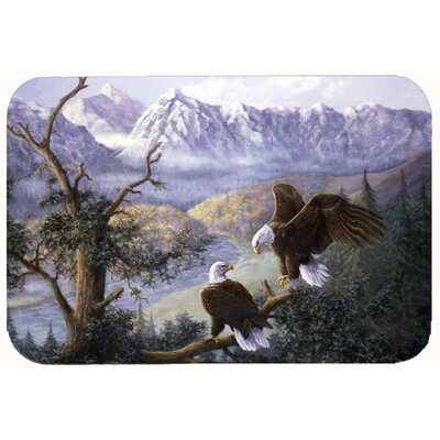 Eagles by Daphne Baxter Kitchen/Bath Mat Size: 20 W x 30 L