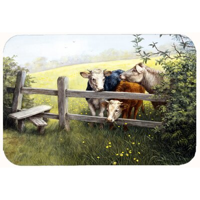 Cows in a Buttercup Meadow Kitchen/Bath Mat Size: 24 W x 36 L
