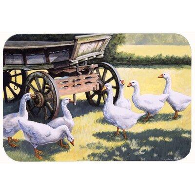 Geese by Daphne Baxter Kitchen/Bath Mat Size: 24 W x 36 L
