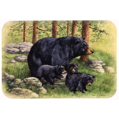 Butterfields Bear by Daphne Baxter Kitchen/Bath Mat Size: 24 W x 36 L