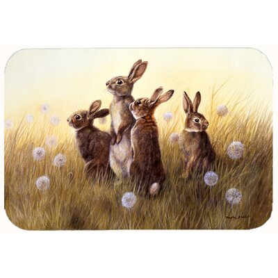 Rabbits in the Dandelions Kitchen/Bath Mat Size: 24 W x 36 L