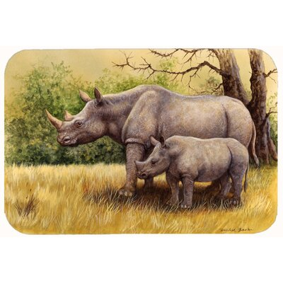 Rhinoceros by Daphne Baxter Kitchen/Bath Mat Size: 24