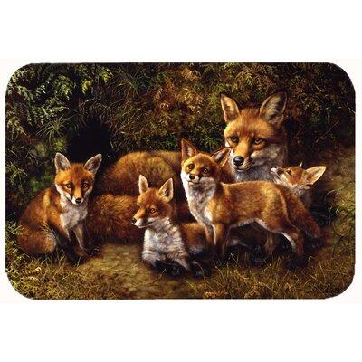 Fox Family Foxes by Daphne Baxter Kitchen/Bath Mat Size: 24 W x 36 L