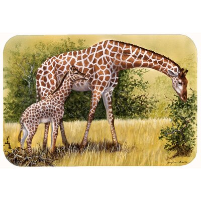 Lockheart Giraffes by Daphne Baxter Kitchen/Bath Mat Size: 24 W x 36 L