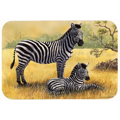 Zebras by Daphne Baxter Kitchen/Bath Mat Size: 24