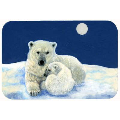 Polar Bears Moonlight Snuggle Kitchen/Bath Mat Size: 24 W x 36 L
