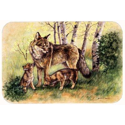 Wolves by Daphne Baxter Kitchen/Bath Mat Size: 24 W x 36 L