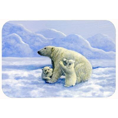 Polar Bears by Daphne Baxter Kitchen/Bath Mat Size: 24 W x 36 L
