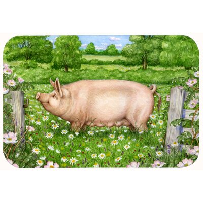 Jonah Pig in Dasies by Debbie Cook Kitchen/Bath Mat Size: 20 W x 30 L