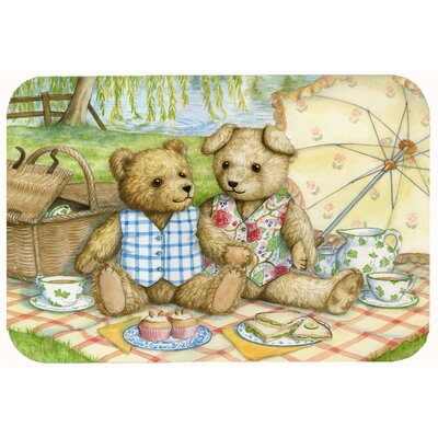 Teddy Bears Picnic Kitchen/Bath Mat Size: 24 W x 36 L