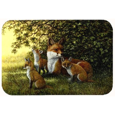 Foxes Resitng under the Tree Kitchen/Bath Mat Size: 24 W x 36 L