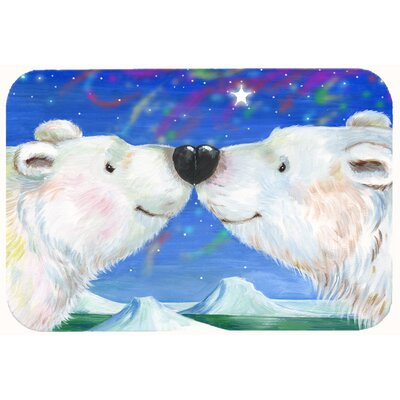 Polar Bears Polar Kiss by Debbie Cook Kitchen/Bath Mat Size: 20 W x 30 L
