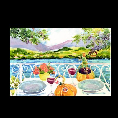 Afternoon of Grape Delights Wine Doormat Mat Size: 2 x 3