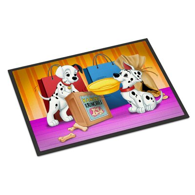 Dalmatians Snack Time Doormat Rug Size: Rectangle 2 x 3
