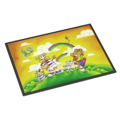 Bears Flying a Kite Doormat Mat Size: Rectangle 2 x 3