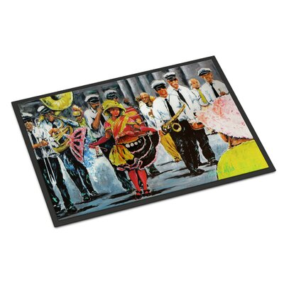 Dancing in the Streets Mardi Gras Doormat Rug Size: 16 x 23