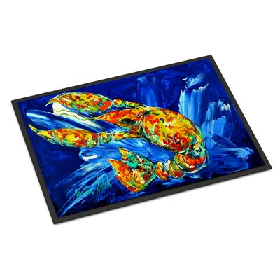 Not Your Plano Crawfish Doormat Rug Size: 16 x 23