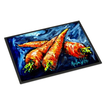 Carrots Only Three Needed Doormat Rug Size: Rectangle 16 x 23