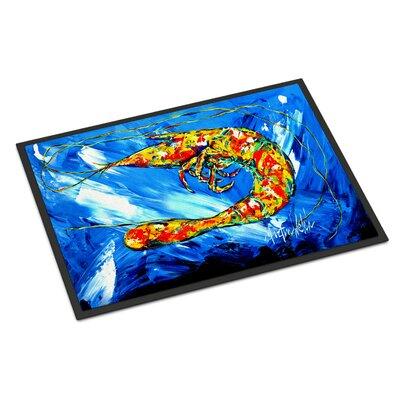 Ice Shrimp Doormat Rug Size: 16 x 23