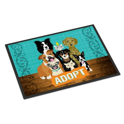 Adopt Pets Adoption Doormat Rug Size: Rectangle 16 x 23