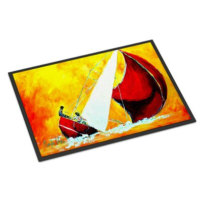 Sailboat Break Away Doormat Rug Size: 2 x 3