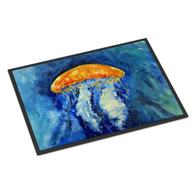 Calm Water Jellyfish Doormat Mat Size: Rectangle 2 x 3
