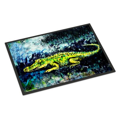 Sneaky Alligator Doormat Rug Size: Rectangle 16 x 23