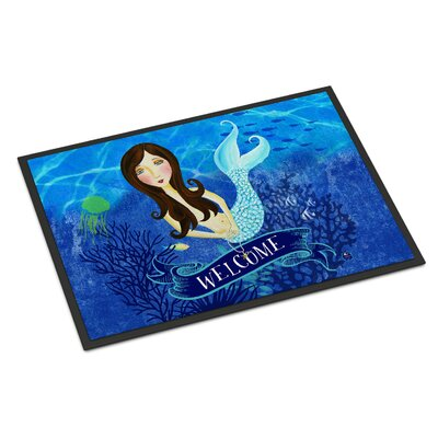 Welcome Mermaid Doormat Rug Size: 16 x 23