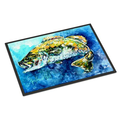 Bobby the Best Bass Doormat Mat Size: Rectangle 2 x 3
