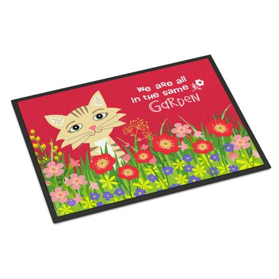 Garden Cat Doormat Mat Size: Rectangle 16 x 23