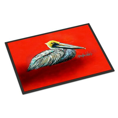 Sitting Pelican Doormat Mat Size: Rectangle 2 x 3
