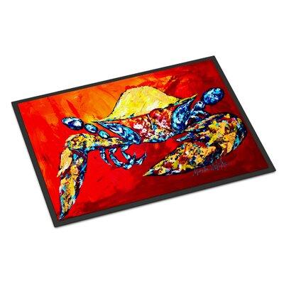Bring it on Crab Doormat Mat Size: Rectangle 2 x 3