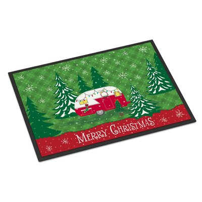 Christmas Vintage Glamping Trailer Doormat Rug Size: Rectangle 2 x 3