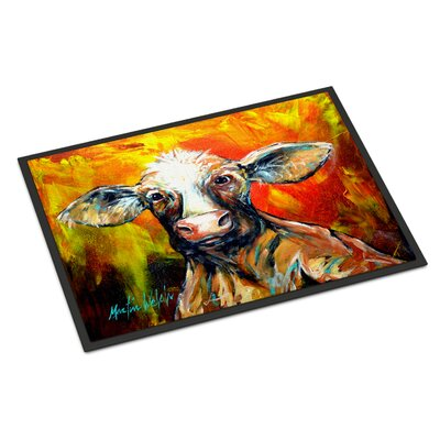 Another Happy Cow Doormat Rug Size: 2 x 3