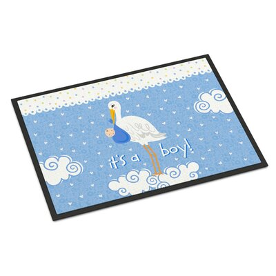Its a Baby Boy Doormat Rug Size: Rectangle 2 x 3